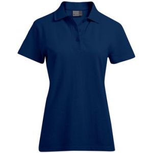 Promodoro Polo supérieur grandes tailles Femmes, XXXL, bleu marine
