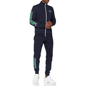 Lacoste Sport WH1502 Pantalon de survêtement, Marine/Vert-Blanc, S Homme