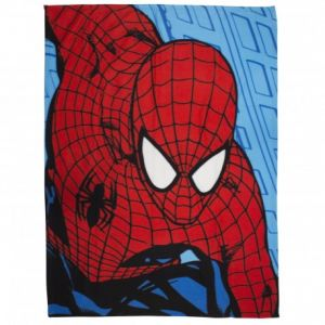 Character World Plaid polaire réversible Spiderman Ultimate Parker (120 x 140 cm)