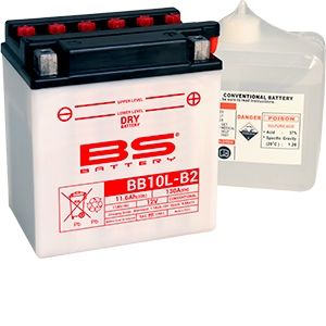 BS Battery Batterie BS BB10L-B2 conventionnelle livrée avec pack acide