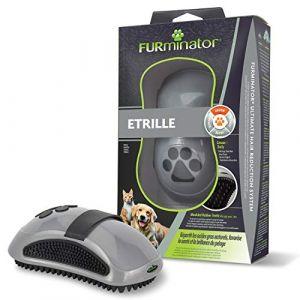 FURminator Etrille - Masse le pelage de vos chiens et chats - Enlève les poils morts et les impuretés - Conçu et Recommandé par des Professionnels - Usage fréquent - Sans Bisphénol A