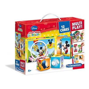 Clementoni 12 cubes Multi Play Mickey Mouse Club House