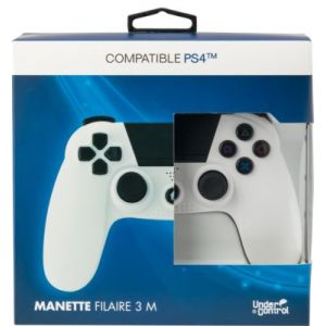 Under Control Manette Blanche Filaire PS4