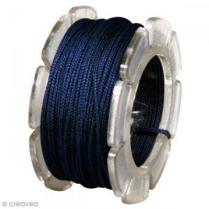 Rayher Bobine cordon ciré bleu - 10 m