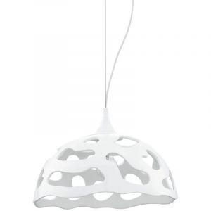 Eglo Suspension lustre éclairage luminaire plafond blanc salle de séjour chambre E27