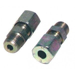 Diff Raccord à bague M3/8 - tube 10mm (2pcs) - Acier - M3/8 - tube 10mm (2pcs) -