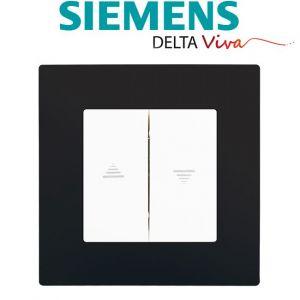 Siemens Interrupteur Volet Roulant Blanc Delta Viva + Plaque Noir