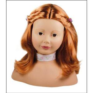 Gotz Tête à coiffer et à maquiller rousse et yeux marrons