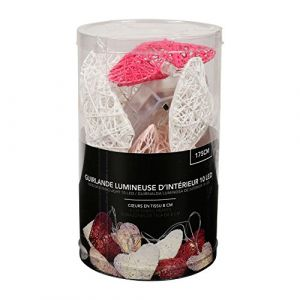 SEMA Guirlande Electrique Coeurs - Roses et Blancs - x10