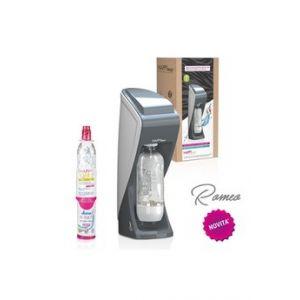 Happy Frizz Machine à soda et eau gazeuse ROMEO GRIS BLANC