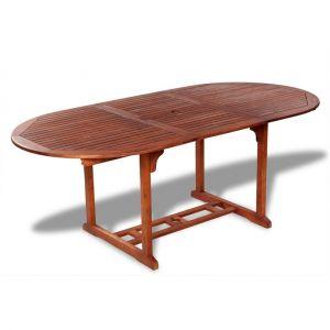VidaXL Table de salle à manger d'extérieur extensible en bois d'acacia