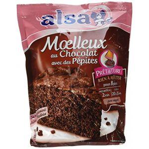 Alsa Moelleux au chocolat avec des pépites - Le pack de 500g / 8 parts