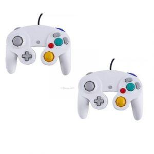 Straße Game 2 X Manettes Pour Nintendo Wii, Wii U Et Gamecube - Blanc