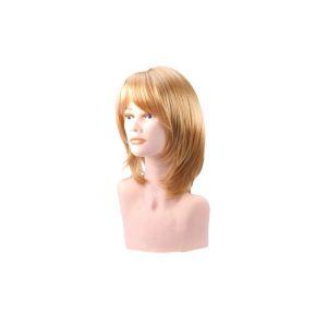 Beautydis Maria - Perruque mi-longue 25-30 cm Blond clair doré 9.3