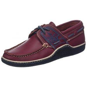 Tbs Globek, Chaussures Bateau Hommes, Rouge (Grenat + Encre + Gazelle B80b6), 45 EU