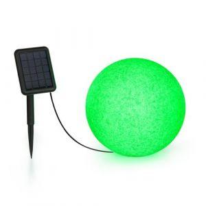 Blumfeldt Shinestone Solar 30 - Lampe Ø 30cm pour jardin & terrasse - Panneau solaire - 16 couleurs - Batterie lithium-ion