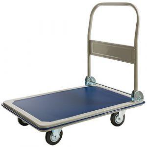 Arebos Chariot à plateforme pliable 300 kg
