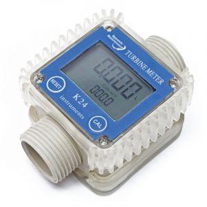 wiltec Compteur de débit numérique Débitmètre 10-100 l/ min AdBlue® Urée Pompe