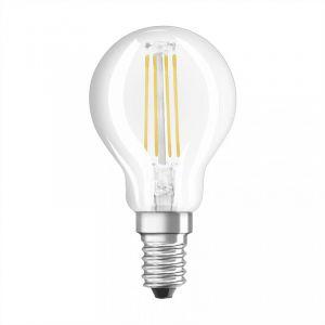 Osram Lot de 3 Ampoules LED E14 - 4W équivalent 40W - Forme sphérique claire filament - Blanc chaud 2700K