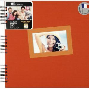 Panodia 271062 Tais Album Photo 60 Pages Traditionnel au style contemporain Orange 30 x 30 cm