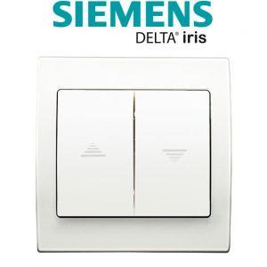 Siemens Interrupteur Volet Roulant Blanc Delta Iris + Plaque basic Blanc