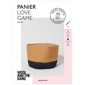 Dmc Modèle de panier - Love Game - RA-RA RAFFIA