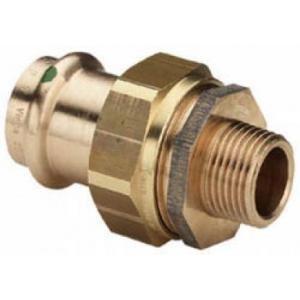 Viega 1280425 - Raccord union en bronze à sertir male-femelle fileté diamètre 35-33 x 42 modèle 2265