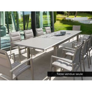 Hesperide Azua 8-12 places - Table de jardin rectangulaire extensible 200/300 x 100 cm