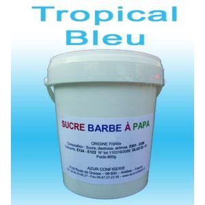 Azur Confiserie Sucre à barbe à papa Tropical Bleu (500g)