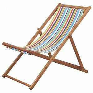 VidaXL Chaise de plage pliante Tissu Multicolore