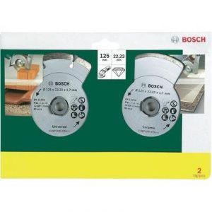 Bosch 2607019484 - Jeu de 2 disques diamant carrelage et matériaux de construction Ø125mm TS