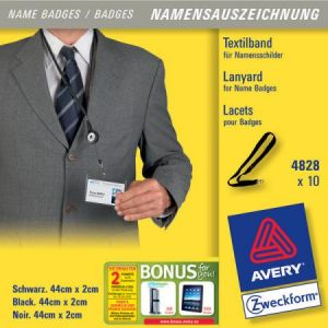 Avery-Zweckform Avery lacets avec mousqueton 44cm x 10