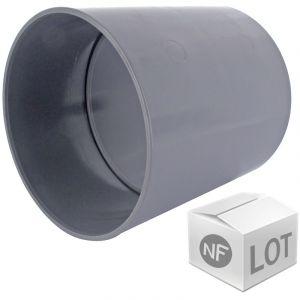 First Plast Lot de raccord PVC - 10 manchons à butée Ã%u02DC50