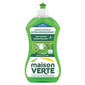 Maison Verte Liquide vaisselle main ultra dégraissant aux huiles essentielles - 500ml