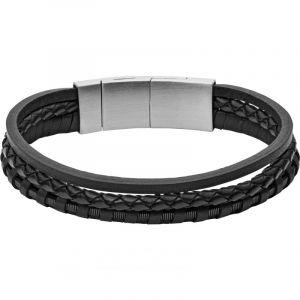 Fossil Bracelet Homme Vintage Casual Noir