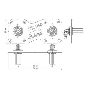 Watts Industries Sortie de cloison Robifix + entraxe 150 mm à glissement - Ø 16 mm - M 3/4'