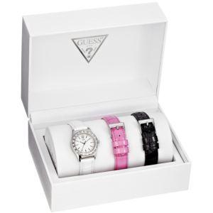 Guess W11180L1 - Coffret montre pour femme avec 3 bracelets