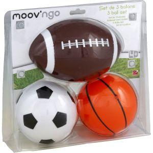 Moov'ngo Set de 3 ballons