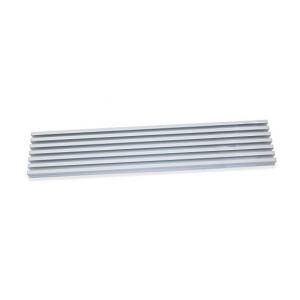 Emuca Grille aération pour four à encastrer en aluminium anodisée inox - 8061669