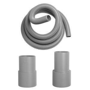 Ceta Flexible d'évacuation DEBIFLEX gros débit avec raccords - Couronne de 3 ml + 2 raccords 5040M + 2 raccords 5040F