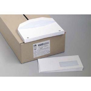 La couronne 1000 enveloppes Insert 11,4 x 22,9 cm avec fenêtre 3,5 x 10 cm