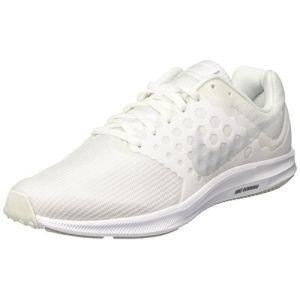 Nike Downshifter 7, Chaussures de Running Homme, Blanc (Blanc/Platinepur), 41 EU