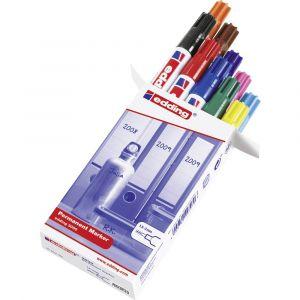 Edding Marqueur permanent 3000 noir, rouge, bleu foncé, vert foncé, jaune, bleu clair, rose, marron, orange, violet résiste à leau: oui 4-3000999