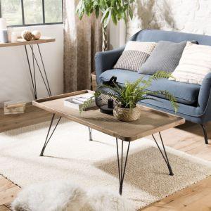 "Macabane Table Basse Rectangulaire ""Rioda"" 110cm Naturel"