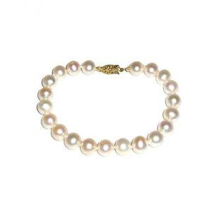 Blue Pearls Bps 1520 O - Bracelet perles de culture et fermoir en or