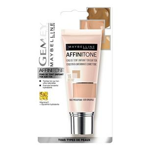 Maybelline Gemey Affinitone - Fond de teint liquide - 16 vanille rosée
