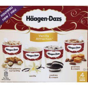 Häagen-dazs Vanilla attraction - Les 4 pots de 100ml