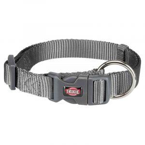 Trixie Premium collier - M-L: 35-55 cm/20 mm, gris graphite