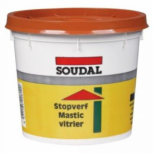 Soudal Mastic vitrier acajou vg 1 kg - SéLECTION BRICO-TRAVO