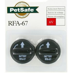 PetSafe Lot de 2 piles RFA-67D